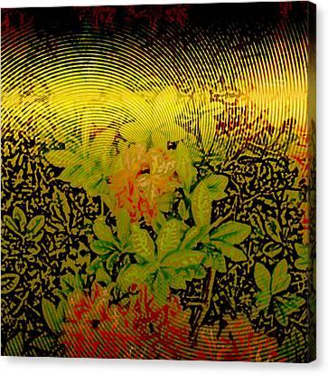 Gold Sheet Floral 2 Canvas Print