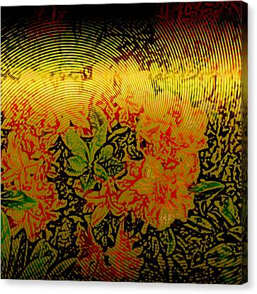 Metallic Sheets Canvas Print - Gold Sheet Floral 3 by Patricia Keith