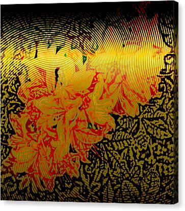 Gold Sheet Floral 4 Canvas Print