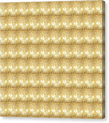 Canvas Print featuring the photograph Gold Sparkle Tone Pattern Unique Graphics by Navin Joshi