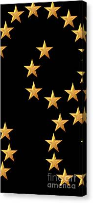 Gold Stars Abstract Triptych Part 2 Canvas Print by Rose Santuci-Sofranko