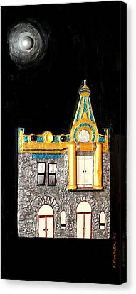 Gold Victorian Mansion-montreal Canvas Print