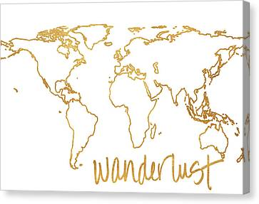 Gold Wanderlust Canvas Print by South Social Studio