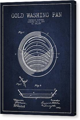 Gold Washing Pan Patent Drawing From 1897 Canvas Print