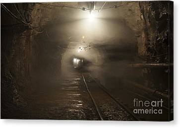 Subsoil Canvas Print - Gold37 by Gleb Klementev