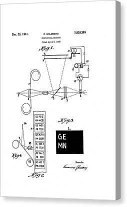 Goldberg Statistical Machine Patent Canvas Print