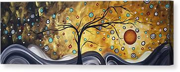 Golden Admiration By Madart Canvas Print by Megan Duncanson