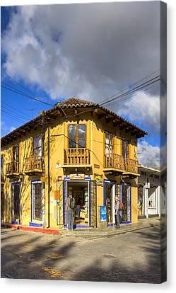 Golden Afternoon In San Cristobal De Las Casas Canvas Print by Mark Tisdale