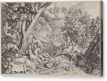 Golden Age, Nicolaes De Bruyn Canvas Print by Nicolaes De Bruyn