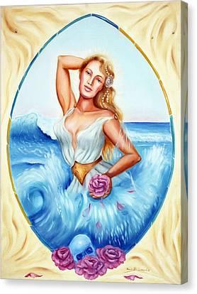 Golden Aphrodite Canvas Print by Karin  Leonard