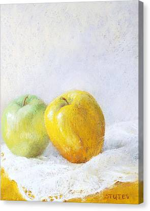 Golden Apple Canvas Print by Nancy Stutes
