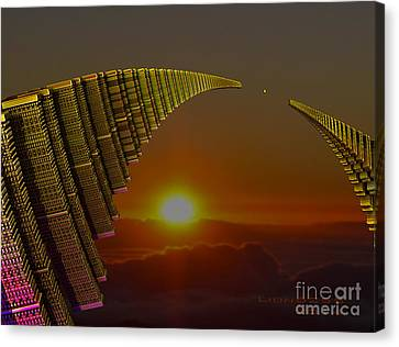 Canvas Print featuring the digital art Golden Arches by Melissa Messick
