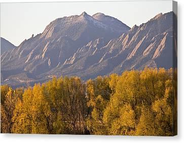 Golden Autumn Boulder Colorado Flatiron View Canvas Print