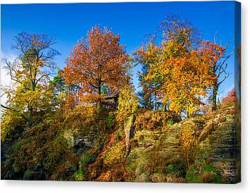 Golden Autumn On Neurathen Castle Canvas Print