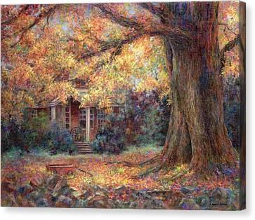 Golden Autumn Canvas Print by Susan Savad