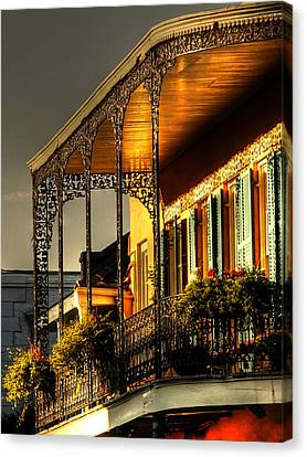 Chrystal Canvas Print - Golden Balcony by Greg and Chrystal Mimbs