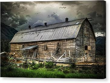Golden Barn Canvas Print by Wayne Sherriff