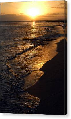 Canvas Print featuring the photograph Golden Beach by Yue Wang