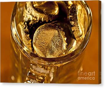 Golden Beer  Mug  Canvas Print by Wilma  Birdwell