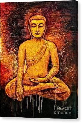 Golden Buddha 2 Canvas Print by Shijun Munns