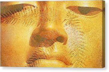 Gold Metal Canvas Print - Golden Buddha - Art By Sharon Cummings by Sharon Cummings
