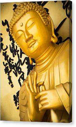 Golden Buddha Statue Canvas Print