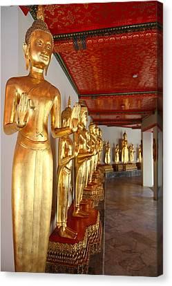 Golden Buddha - Wat Pho - Bangkok Thailand - 01131 Canvas Print by DC Photographer