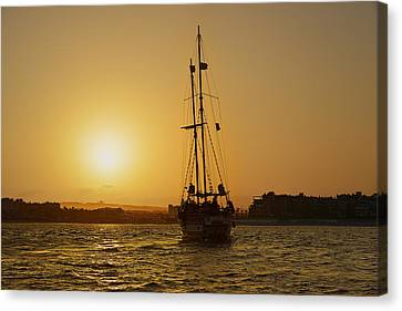 Canvas Print featuring the photograph Golden Cabo Sunset by Christine Till