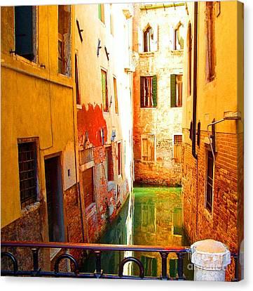 Golden Canal Canvas Print