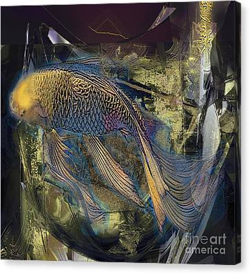Golden Carp Canvas Print