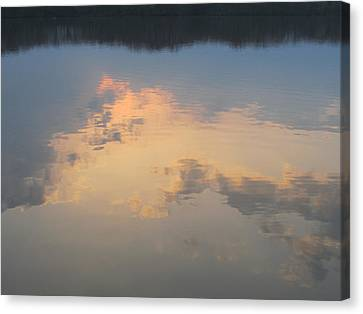Golden Clouds On Water Canvas Print by Jaime Neo