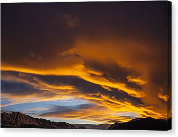 Golden Clouds Over Sierras Canvas Print by Garry Gay