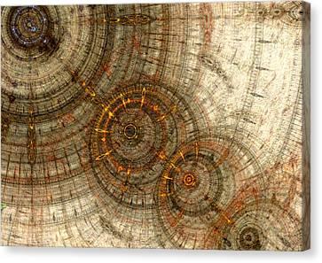 Golden Cogwheels Canvas Print by Martin Capek