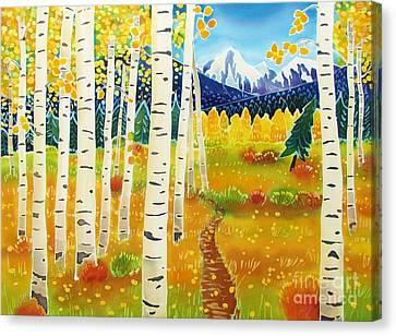 Batik Canvas Print - Golden Colorado Day by Harriet Peck Taylor