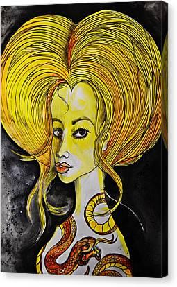 Golden Core Canvas Print
