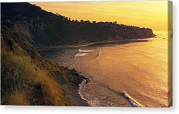 Palos Verdes Cove Canvas Print - Golden Cove by Ron Regalado