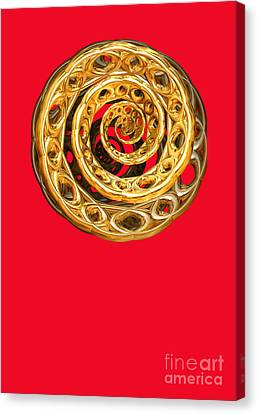Golden Cycle Of Life By Jammer Canvas Print by First Star Art