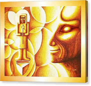 Golden Days Of  Atlantis Canvas Print by Hartmut Jager