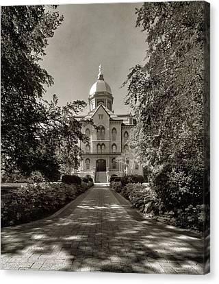 Golden Dome At Notre Dame University Canvas Print