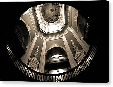 Golden Dome Ceiling Canvas Print by Dan Sproul