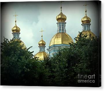 Golden Domes Canvas Print