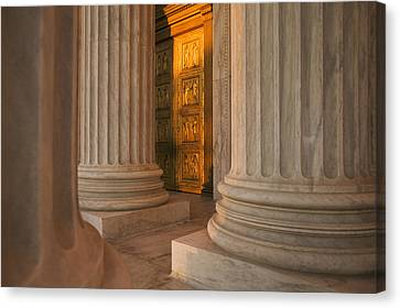 Golden Doors And Columns Of The United Canvas Print by Tips Images