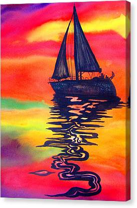 Canvas Print featuring the painting Golden Dreams by Lil Taylor