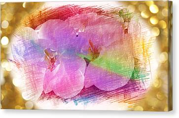 Golden Dreams Of Orchids Canvas Print