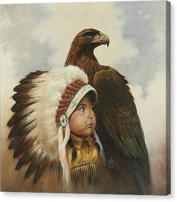 Golden Eagles Canvas Print