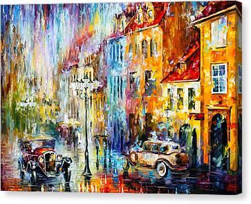 Golden Evening Canvas Print by Leonid Afremov
