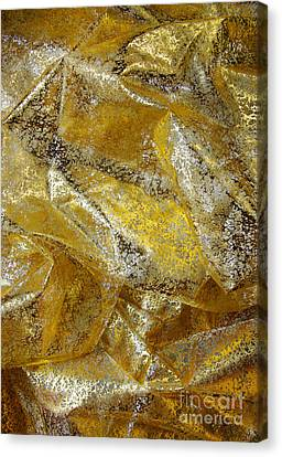 Golden Fabric Canvas Print by Carlos Caetano