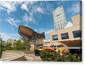 Golden Fish By Frank Owen Gehry Canvas Print by Sergio Pitamitz