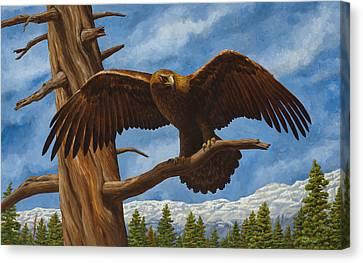 Golden Flex Canvas Print by Crista Forest