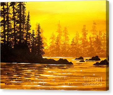 Golden  Flow  Canvas Print
